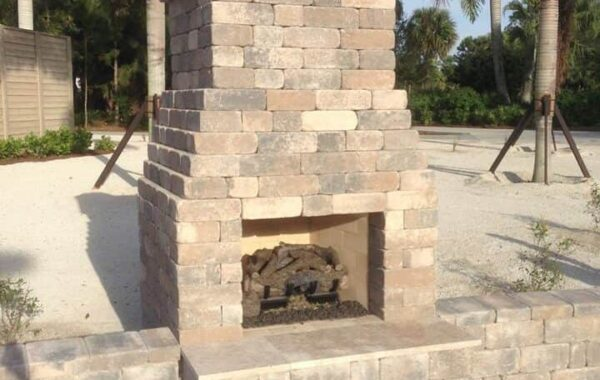 Marco Island Brick Oven Installation